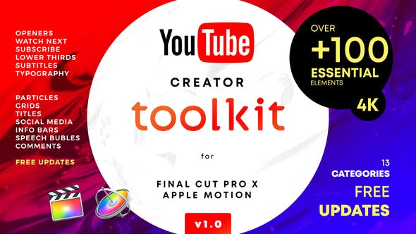 YouTube FCPX Creator Tool Kit - Videohive - 25022531 1