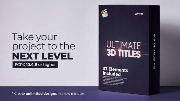 Ultimate 3D Titles for FCPX – Videohive 31272557 1