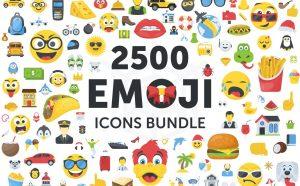 CreativeMarket – 2500 Emoji Icons Bundle 2065490 27