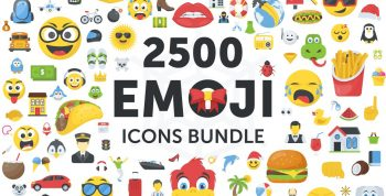 CreativeMarket – 2500 Emoji Icons Bundle 2065490 6